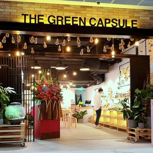 The Green Capsule shop in Singapore.