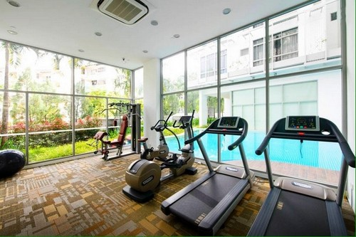 Fitness centre at Thanksgiving Serviced Residence in Singapore.