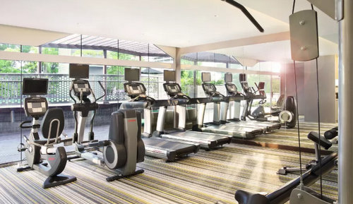 Fitness centre at Village Hotel Katong in Singapore.