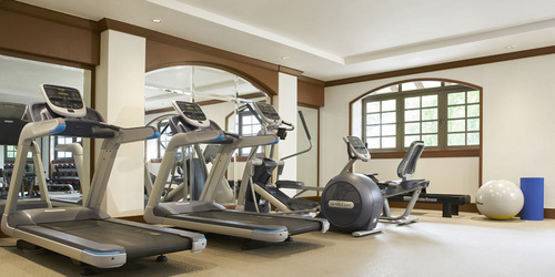 Gym at Orchard Rendezvous Hotel in Singapore.