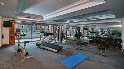 Gymnasium at Orchard Grand Court Singapore.