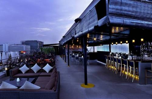 Propeller rooftop bar at Travelodge Harbourfront Singapore hotel.