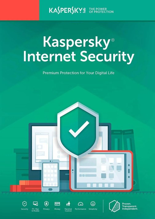 Kaspersky internet security 2019 and 2020 for 1 Device pc 1 year of subscription
