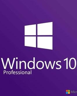 Microsoft Windows 10 Professional 32/64bit Genuine License Key