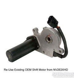 duramax transfer case nv273 conversion shift motor [ 1000 x 1000 Pixel ]
