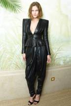 Catherine McNeilly, black on black with a little leather action. Rockstar and winter chic, YUM.