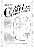 Chambray Shirt Ad