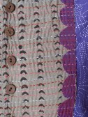 Boulevard dress purple. detail