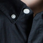 BLACKMANUFACTURING® Black/Camo BD, Japanese Broadcloth Shirting, 100% Cotton, Camo Detailing. Made in the U.S.A.