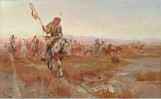 """Charles M. Russell; """"The Medicine Man""""; 1908; Oil on canvas; Amon Carter Museum, Fort Worth, Texas; 1961.171"""