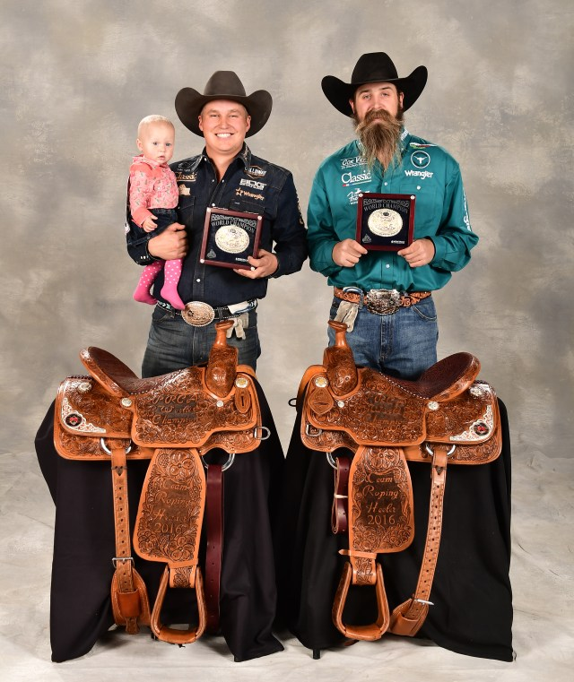 Levi Simpson-Jeremy Buhler Team Roping World Champion Portraits NFR2016