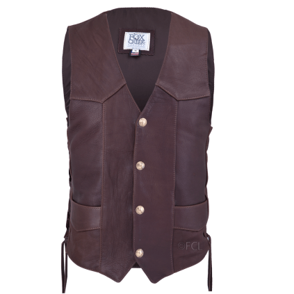 Vintage Vest by Fox Creek Leather