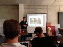 Christian Boettcher von WeGreen stellt seine App-Idee vor.