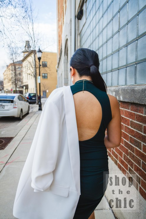 Bringing Sexy Back. If you're wondering how to pull off this dress without a bra, your best bet is pasties or an adhesive bra.