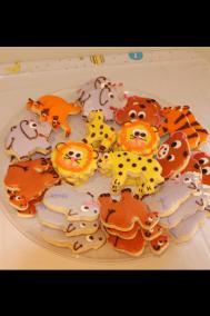 Animal Cutouts on Tray