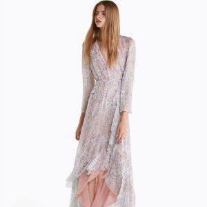 Abbigliamento Patrizia Pepe  Abito lungo stampato Light Moon Map female collezione 2020 shop the look