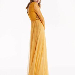 Abbigliamento Patrizia Pepe  Abito lungo con ricamo Cosmic Yellow female collezione 2020 shop the look