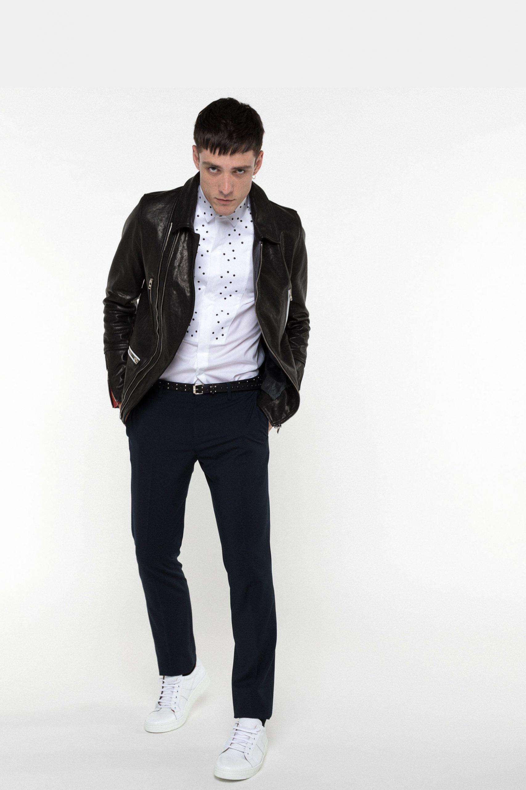 Abbigliamento Patrizia Pepe  Giubbotto Chiodo nero vinile male collezione 2020 shop the look