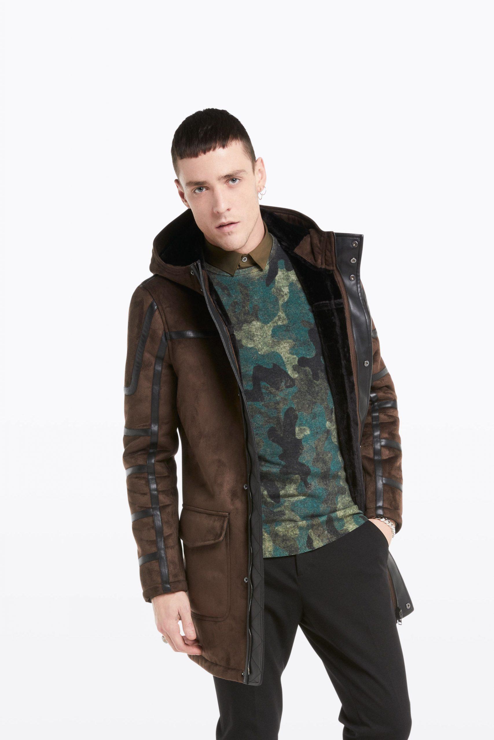 Abbigliamento Patrizia Pepe  Cappotto Montgomery Dark Brown/Black male collezione 2020 shop the look