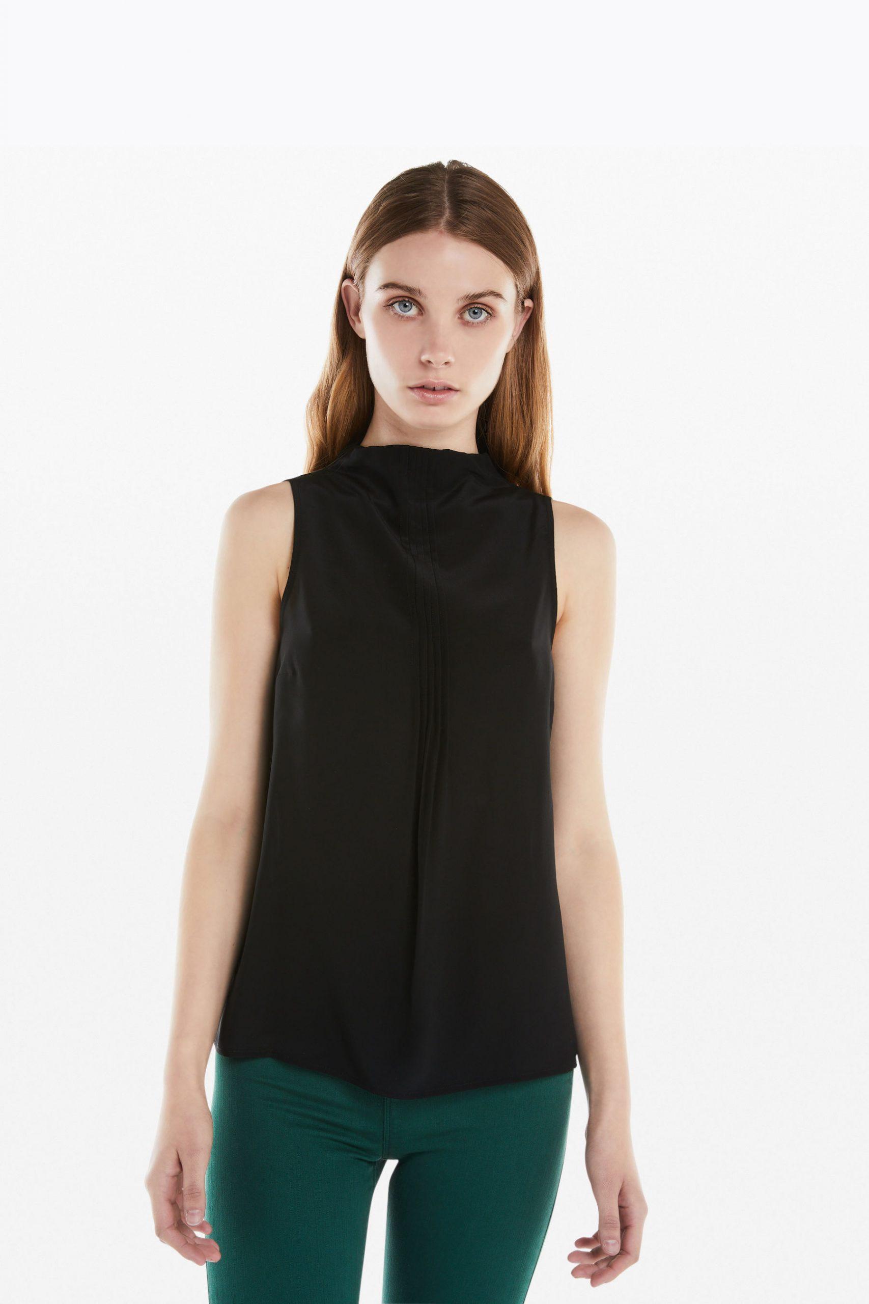 Abbigliamento Patrizia Pepe  Top in Seta Black female collezione 2020 shop the look