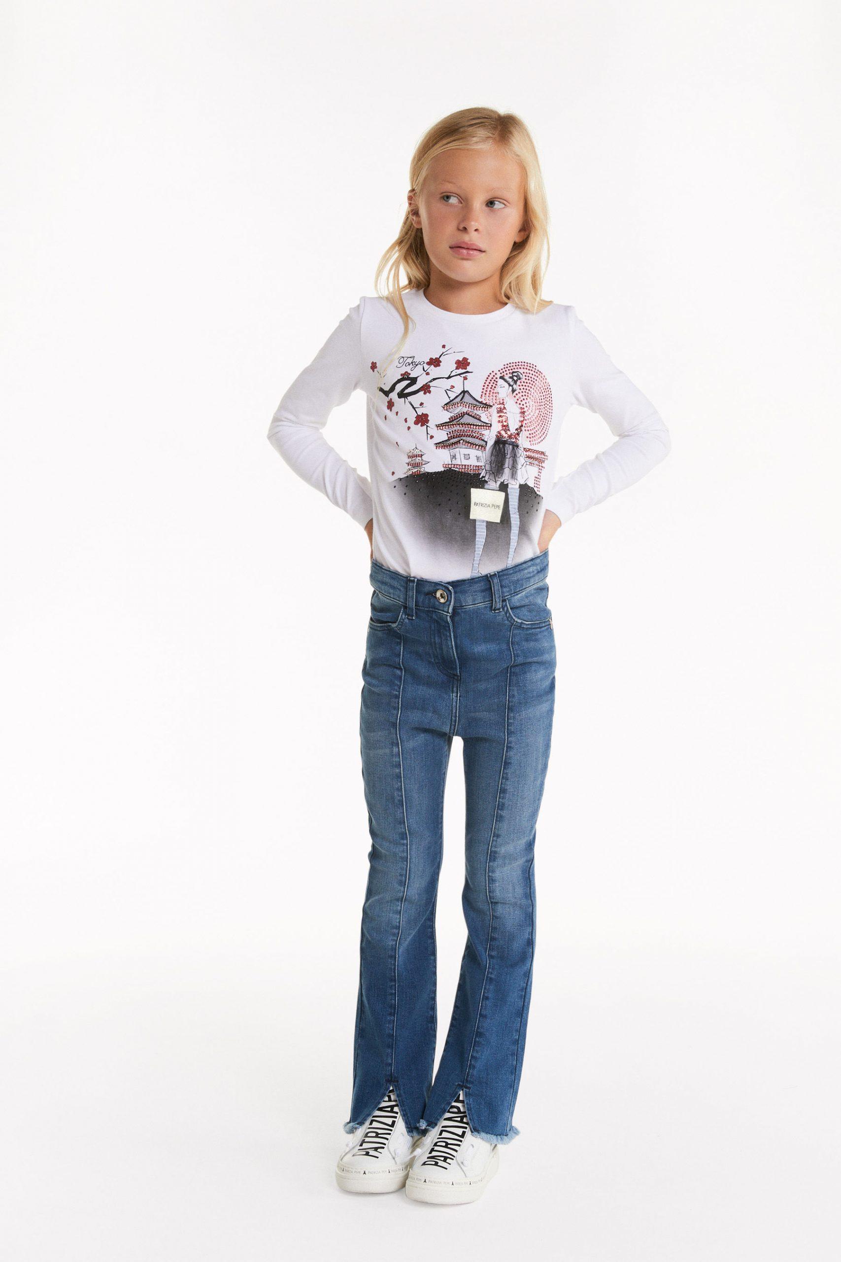 Abbigliamento Patrizia Pepe  Jeans con orlo sfrangiato Denim Blu unisex collezione 2020 shop the look