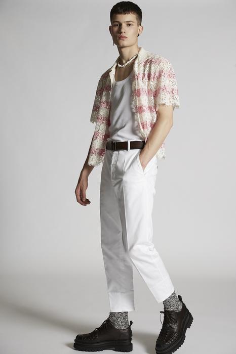 DSQUARED2 Uomo Pantalone Bianco Taglia 54 97% Cotone 3% Elastan