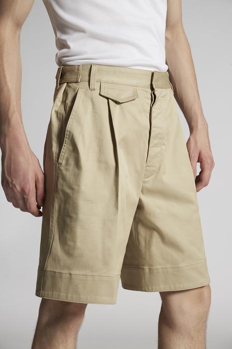 DSQUARED2 Uomo Shorts Beige Taglia 42 97% Cotone 3% Elastan