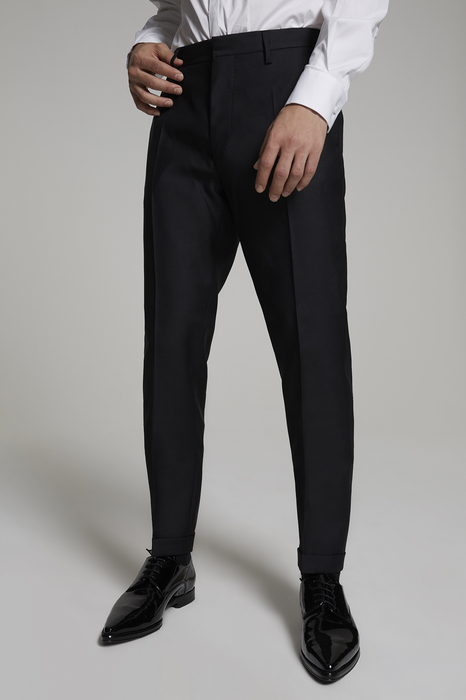 DSQUARED2 Uomo Pantalone Nero Taglia 42 65% Lana Vergine 35% Seta