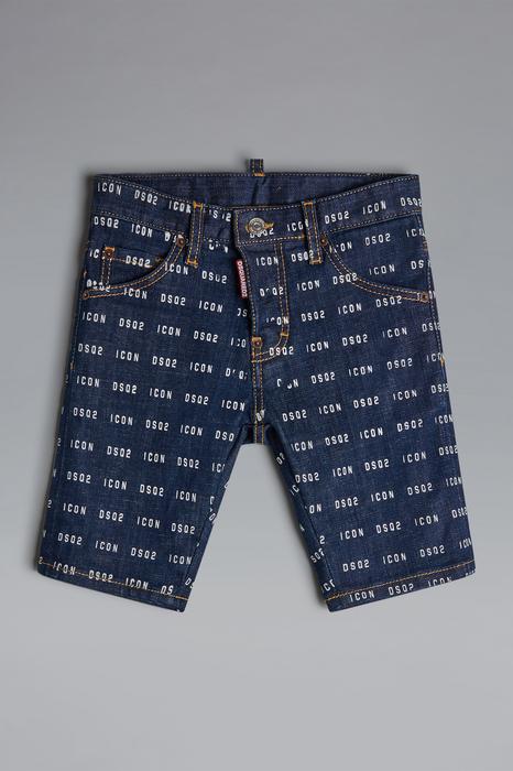 DSQUARED2 Uomo Shorts Blu Taglia 16 98% Cotone 2% Elastan
