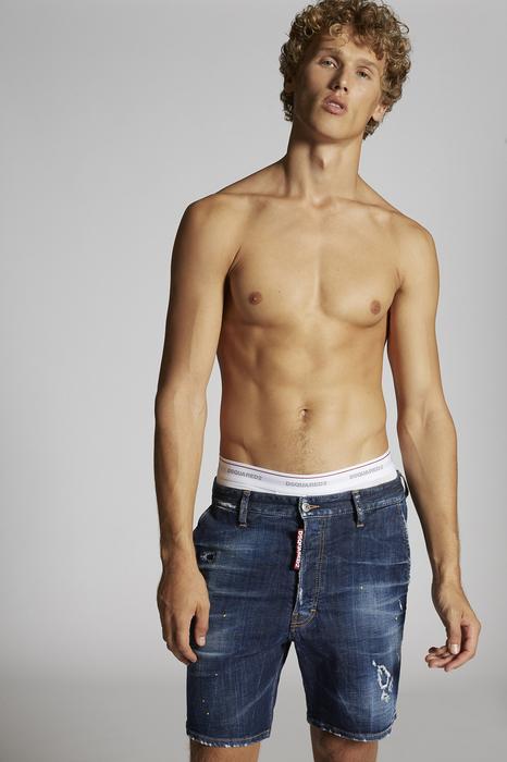 DSQUARED2 Uomo Shorts Blu Taglia 52 98% Cotone 2% Elastan