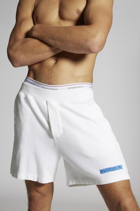 DSQUARED2 Uomo Shorts Bianco Taglia 3XL 100% Cotone