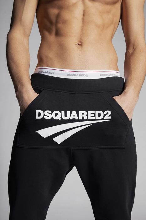 DSQUARED2 Uomo Pantalone Nero Taglia 3XL 100% Cotone