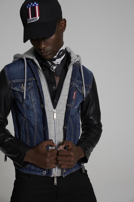 DSQUARED2 Uomo Capospalla jeans Blu Taglia 50 98% Cotone 2% Elastan