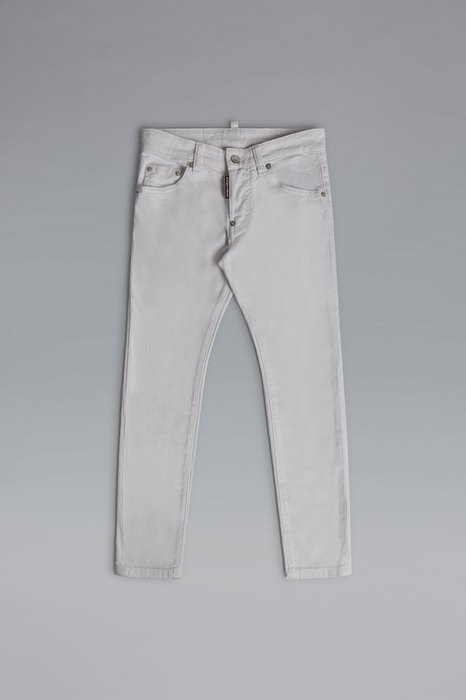 DSQUARED2 Uomo 5 pockets Bianco Taglia 16 98% Cotone 2% Elastan