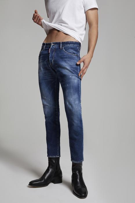 DSQUARED2 Uomo 5 pockets Blu Taglia 56 99% Cotone 1% Elastan