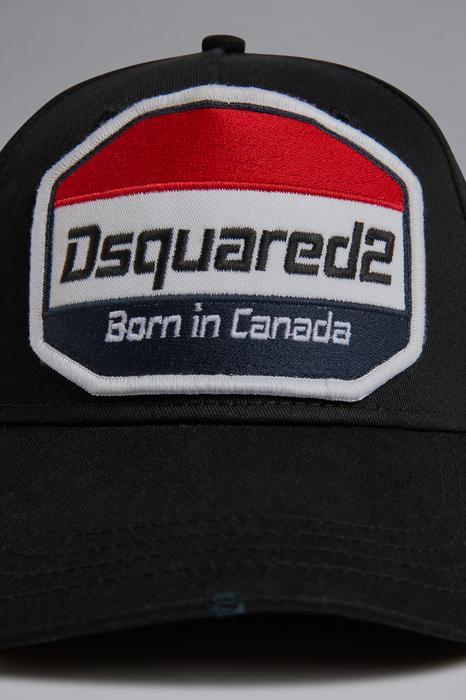 DSQUARED2 Uomo Cappello Nero Taglia OneSize 100% Cotone