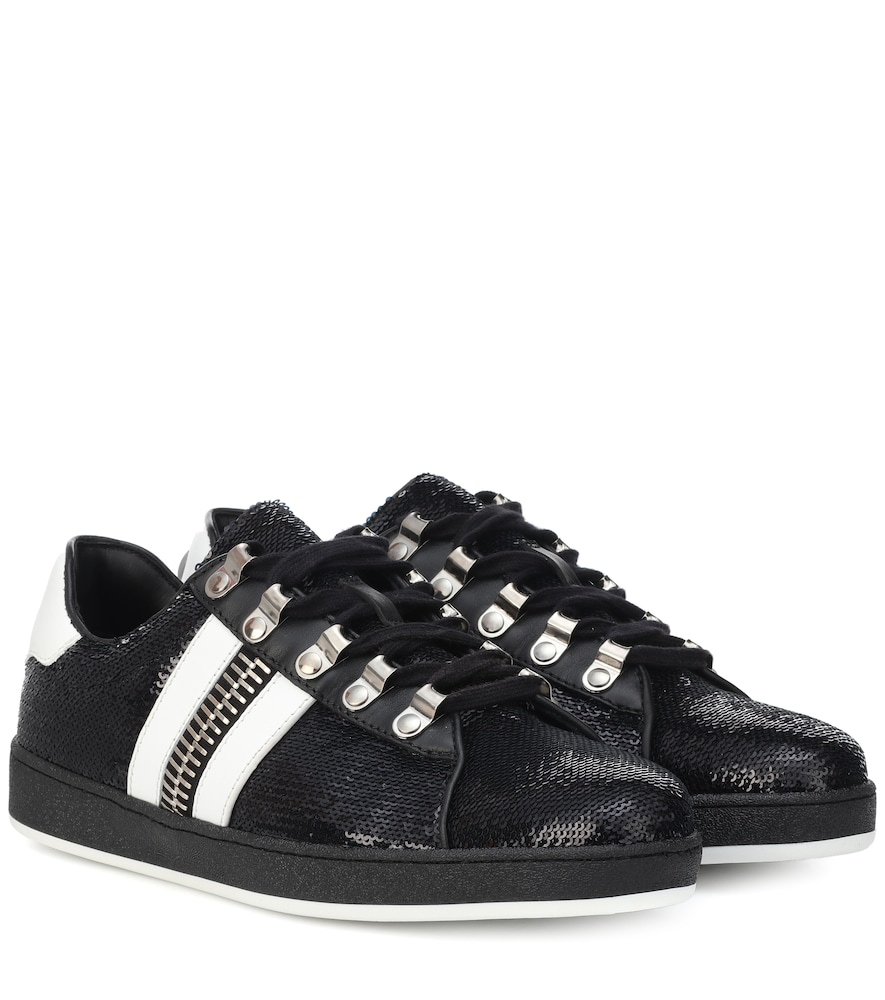 Sneakers Esther in pelle con paillettes female
