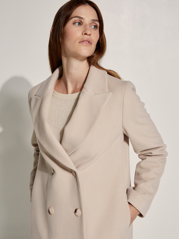 Caractere New season preview Beige - Caractère Cappotto in lana misto cashmere Donna Beige
