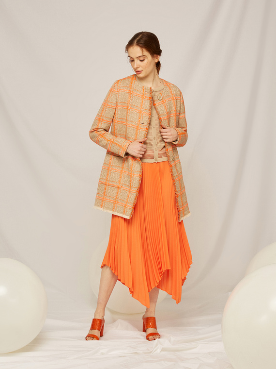 Caractere Abbigliamento > Gonne Arancione - Caractère Gonna plissé Donna Arancione