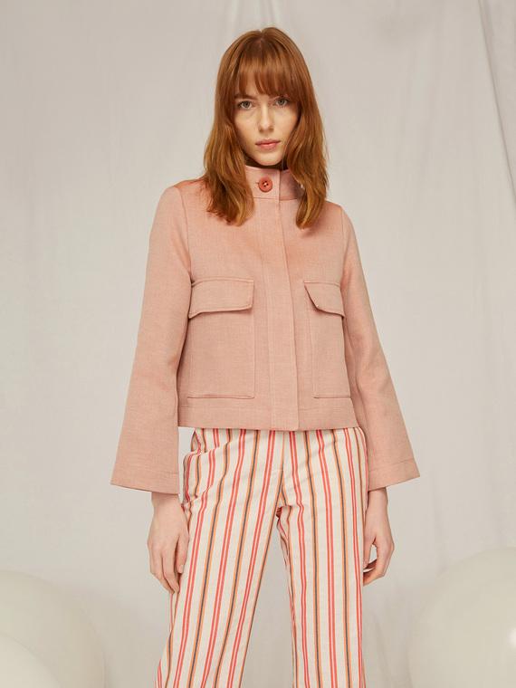 Caractere Cappotti e giacche > Giacche e blazer Marrone - Caractère Giacca in tessuto diagonale Donna Marrone