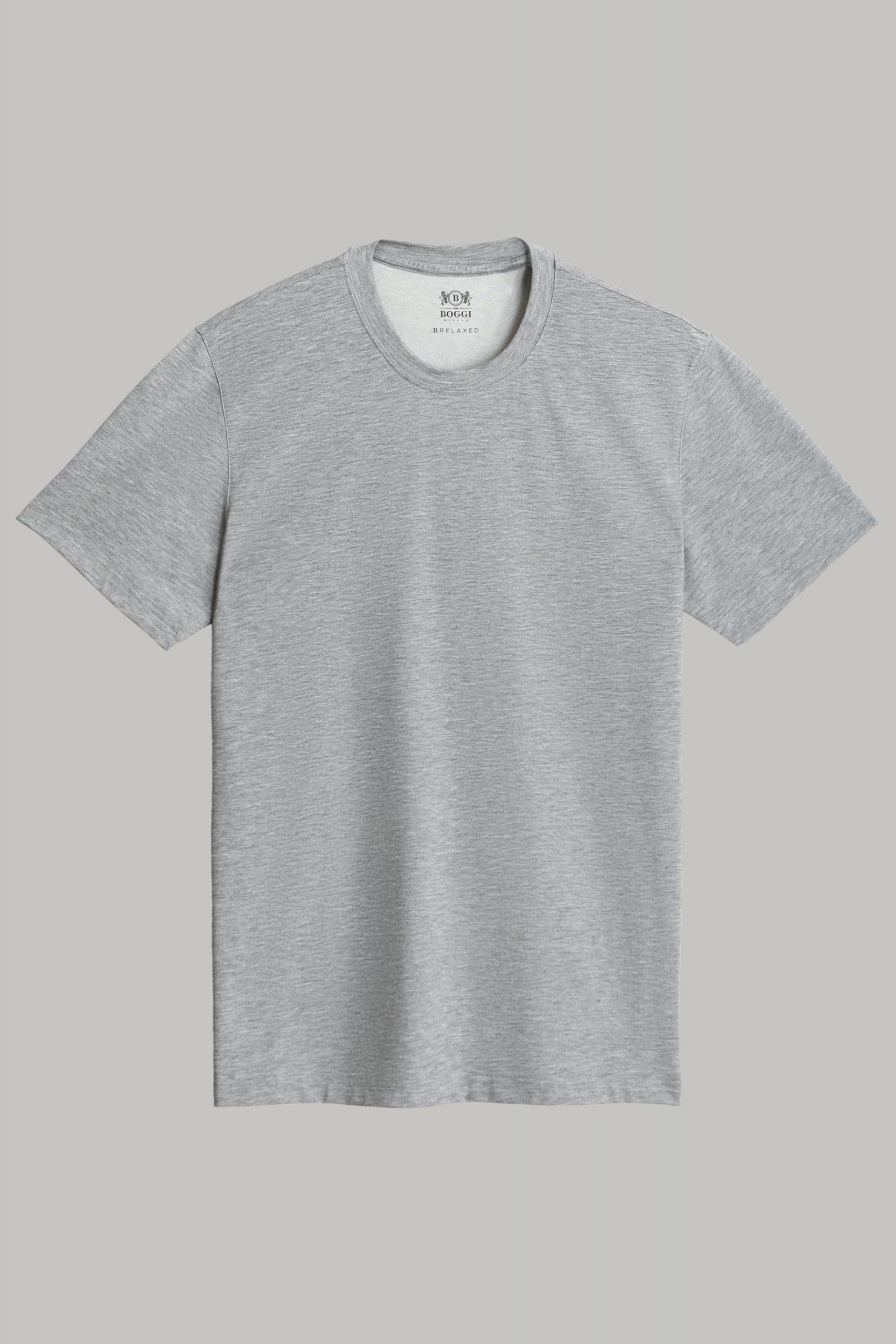 T-Shirts da uomo in colore Grigio scuro in materiale