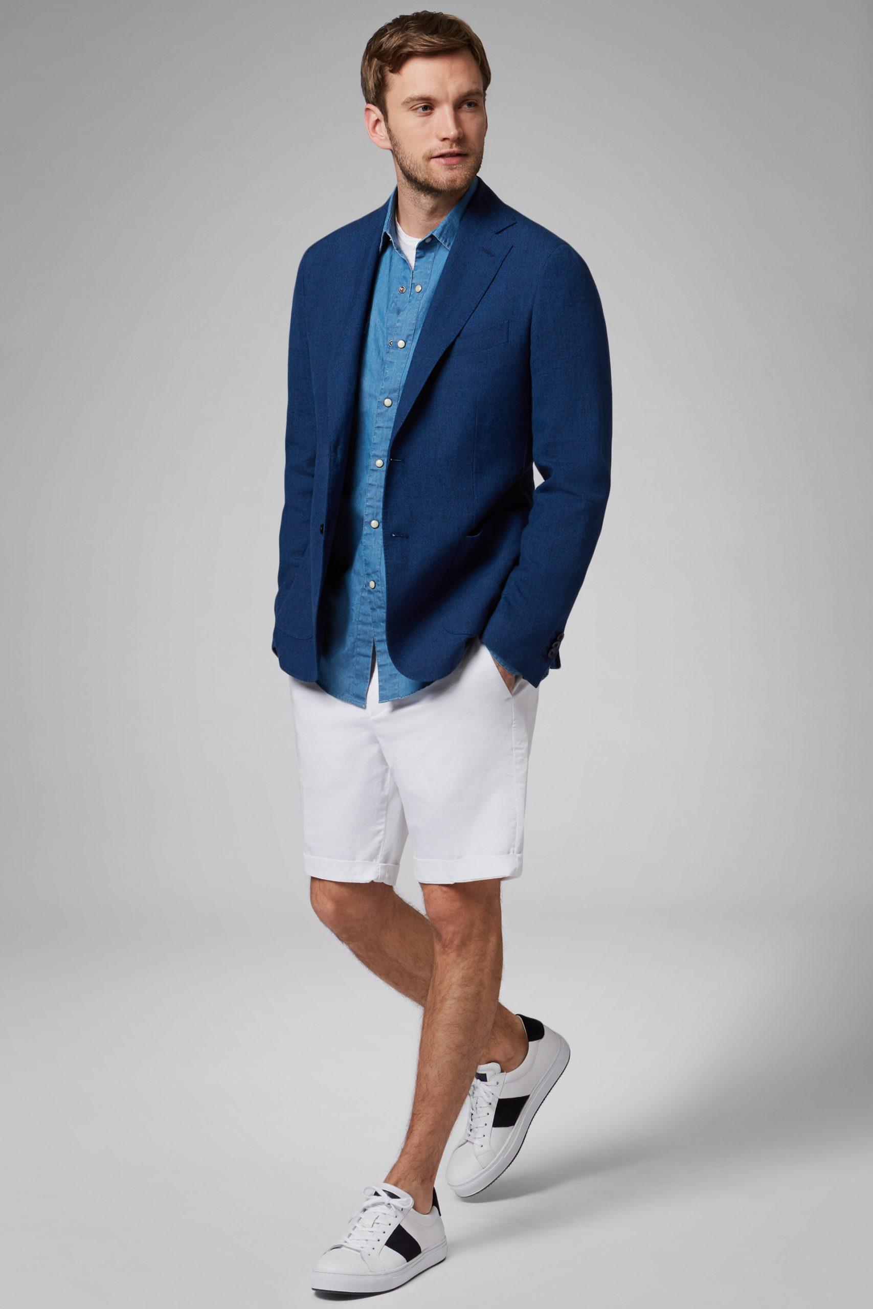 Blazers da uomo in colore Bluette in materiale