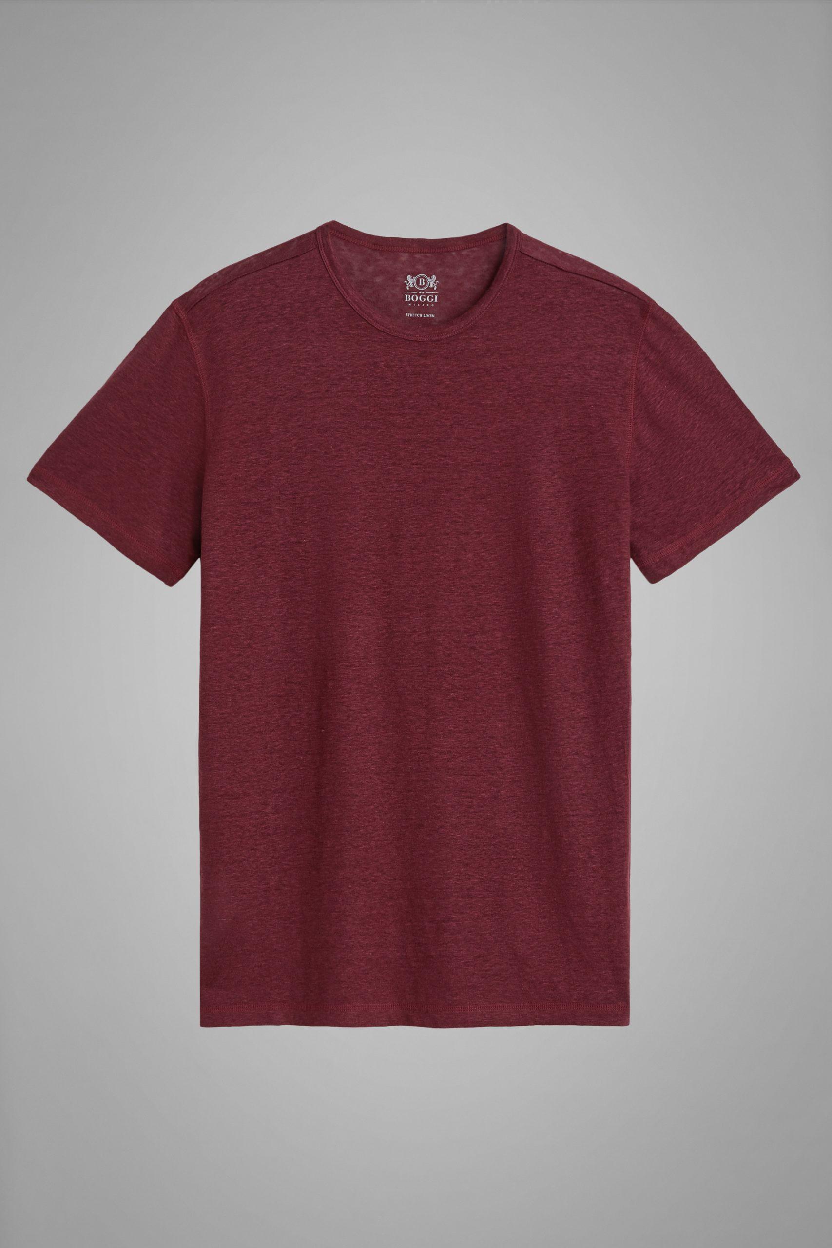T-Shirts da uomo in colore Bordeaux in materiale