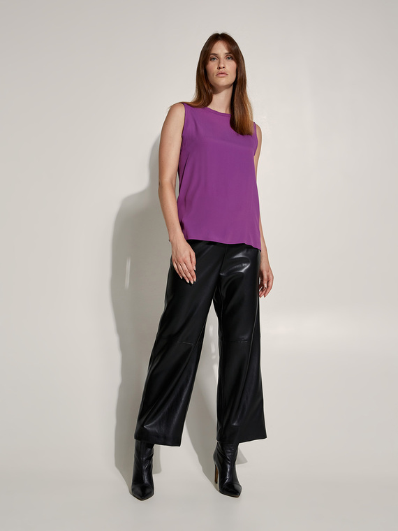 Caractere New season preview Viola - Caractère Top misto seta Donna Viola