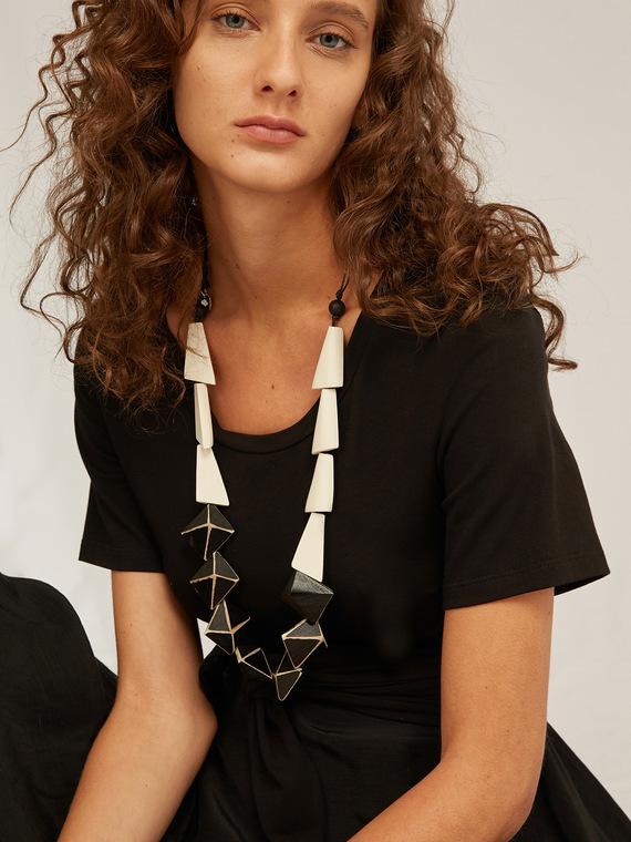 Caractere Accessori > Collane e bijoux Bianco - Caractère Collana etnica bicolore Donna Bianco