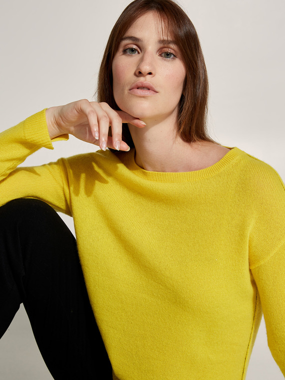 Caractere New season preview Giallo - Caractère Maglia in cashmere Donna Giallo