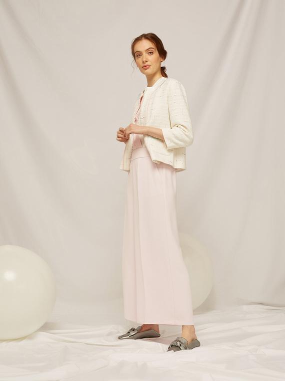 Caractere Abbigliamento > Pantaloni e jeans Rosa - Caractère Pantaloni cropped tinta unita Donna Rosa