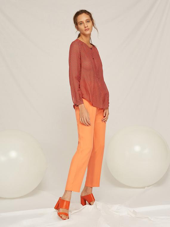 Caractere Abbigliamento > Pantaloni e jeans Arancione - Caractère Pantaloni con elastico in vita Donna Arancione