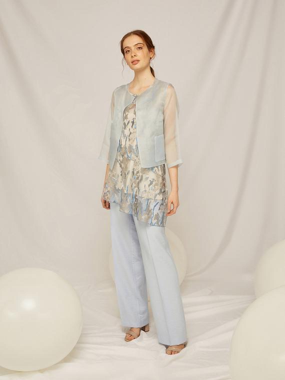 Caractere Abbigliamento > Pantaloni e jeans Blu - Caractère Pantaloni in tessuto pregiato Donna Blu