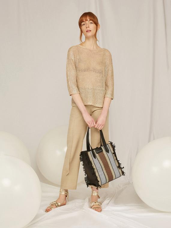 Caractere Abbigliamento > Pantaloni e jeans Beige - Caractère Pantaloni dritti gamba larga Donna Beige